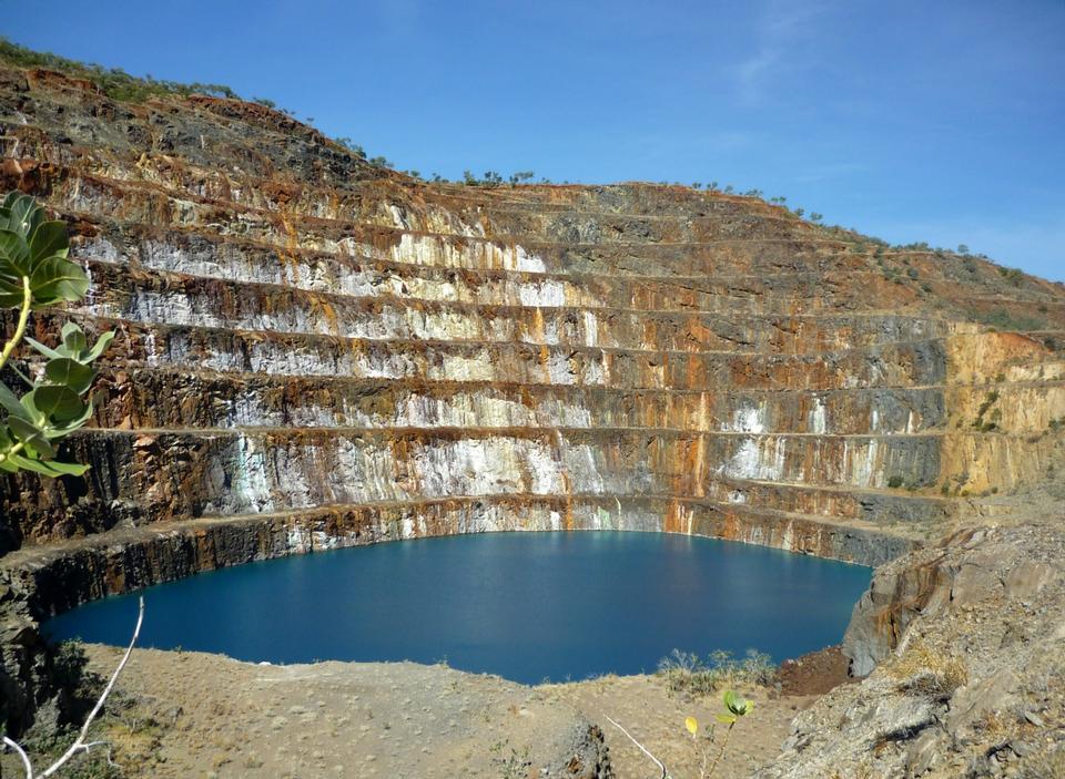 Old derelict uranium quarry