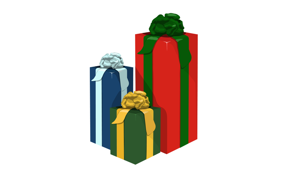 illustration of colorful gift box