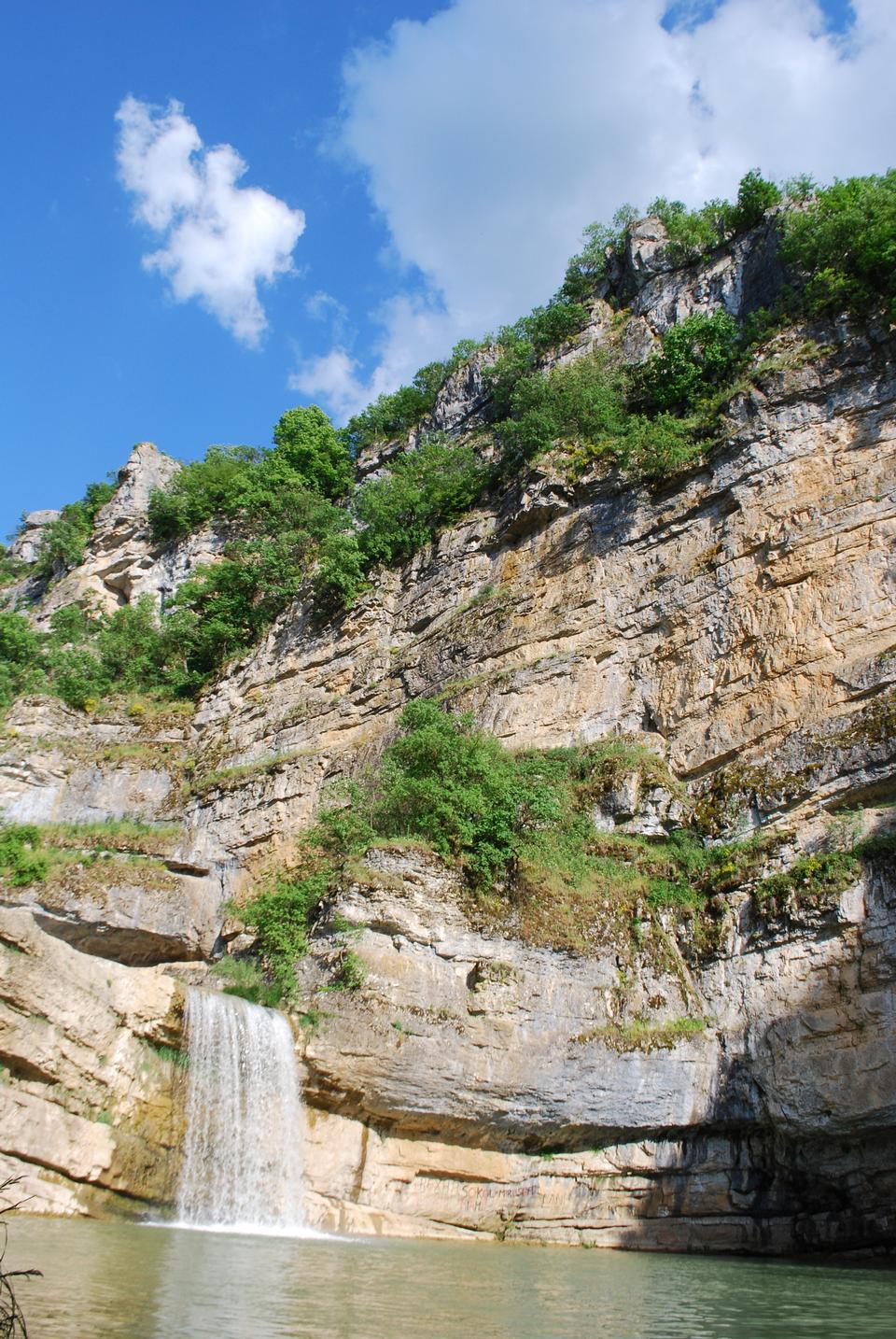 Mirusha川、コソボでの滝