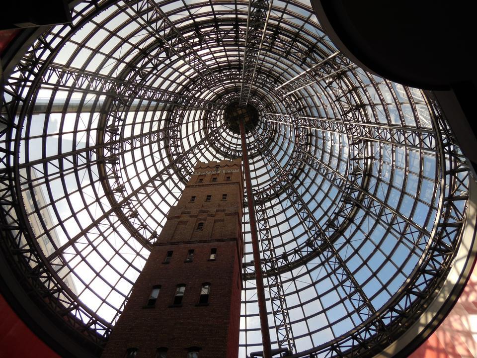 セントラルショッピングセンタータワーとコーンインテリア