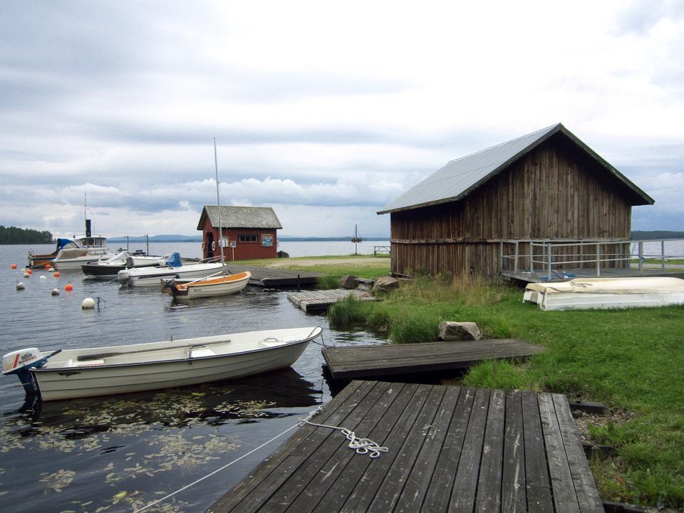 Dellen Lake in Svezia