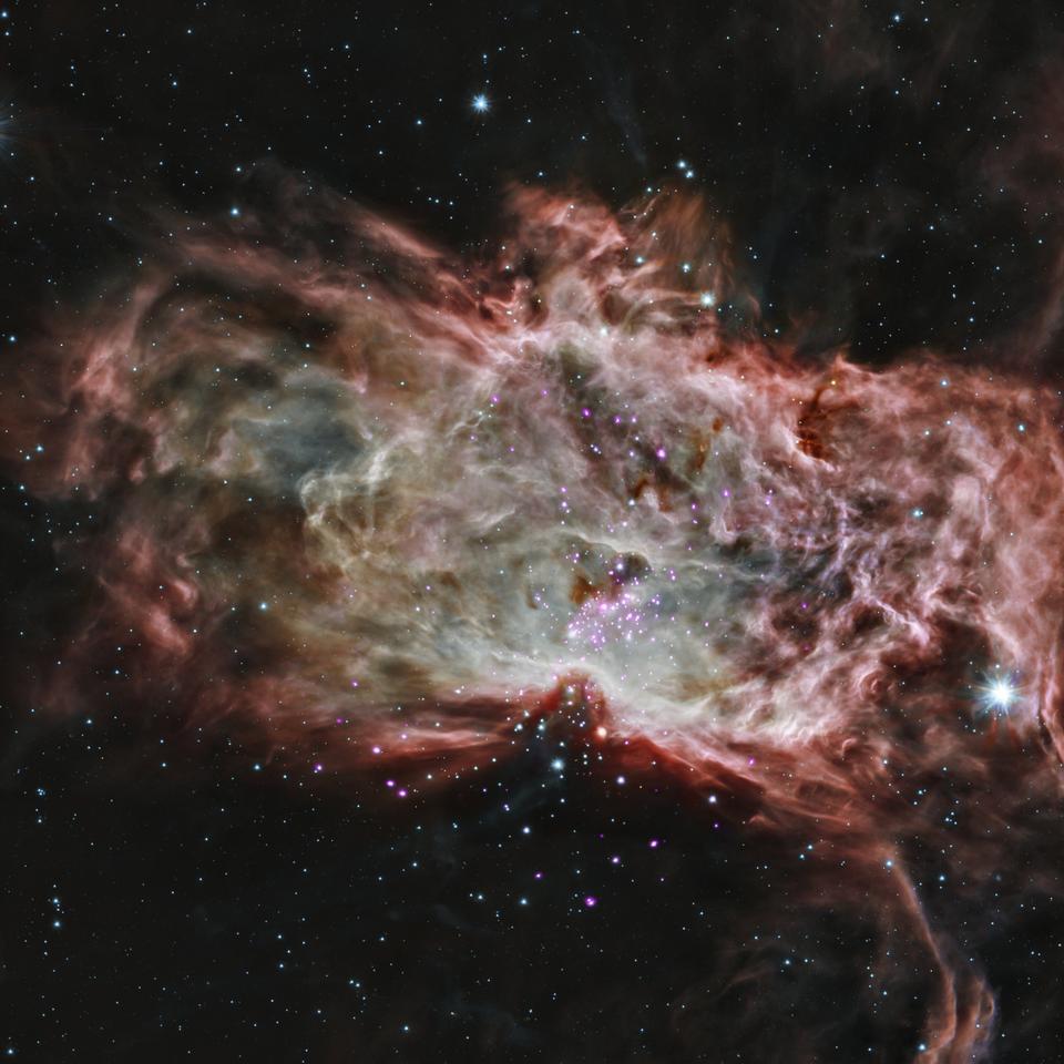 Dentro de la Nebulosa de la Llama