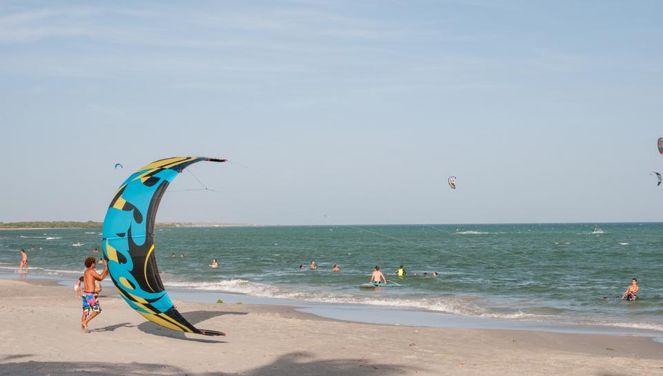 薩爾瓦多Yaque海灘在委內瑞拉