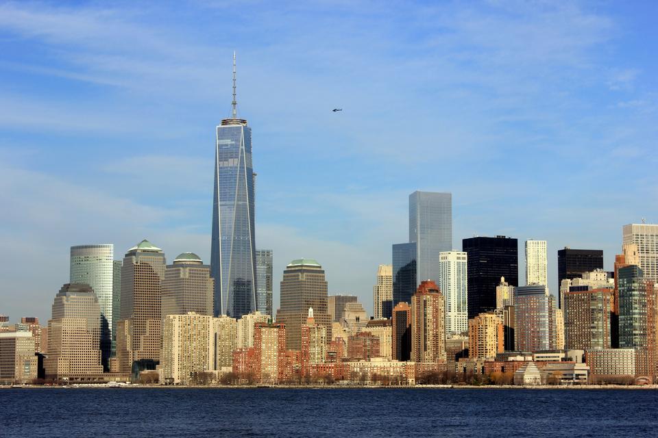 マンハッタンのスカイラインとニューヨーク市のパノラマ