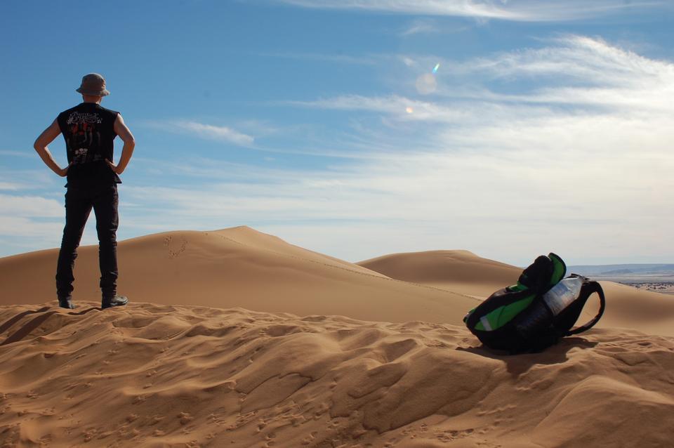 Man Beobachter Sandwüste