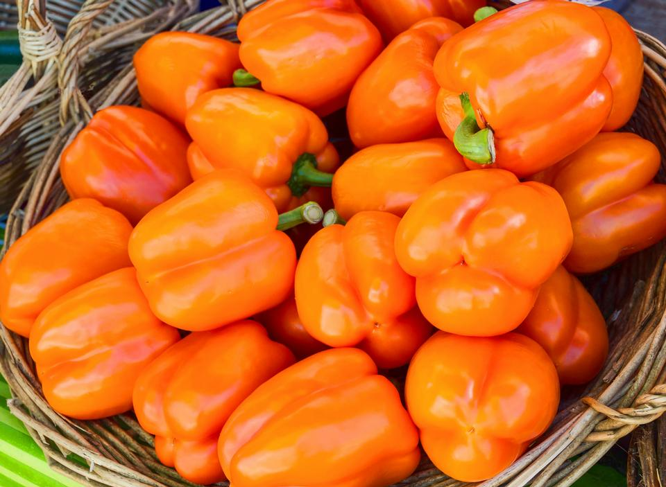 colorful bell peppers, natural background