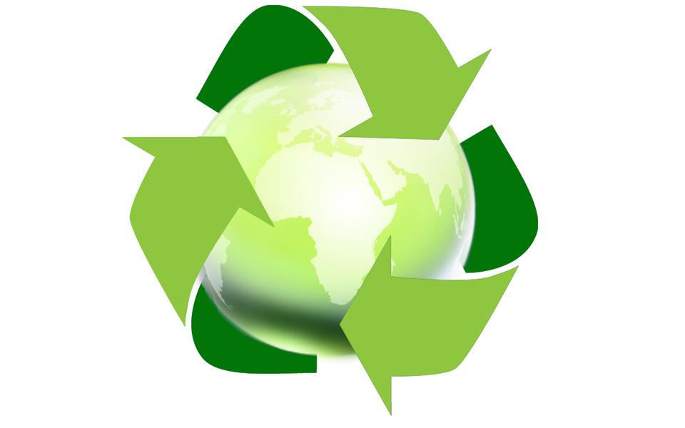 Arrow around the globe (recycle for the earth concept)