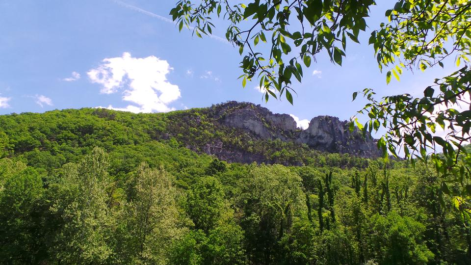 Spring View of Seneca Rocks, West Virginia Horizontal