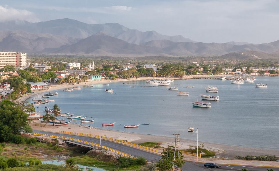Harbor of Juan Griego on Isla de Margarita in Venezuela