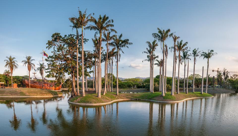 미란다 공원, 카라카스의 풍경
