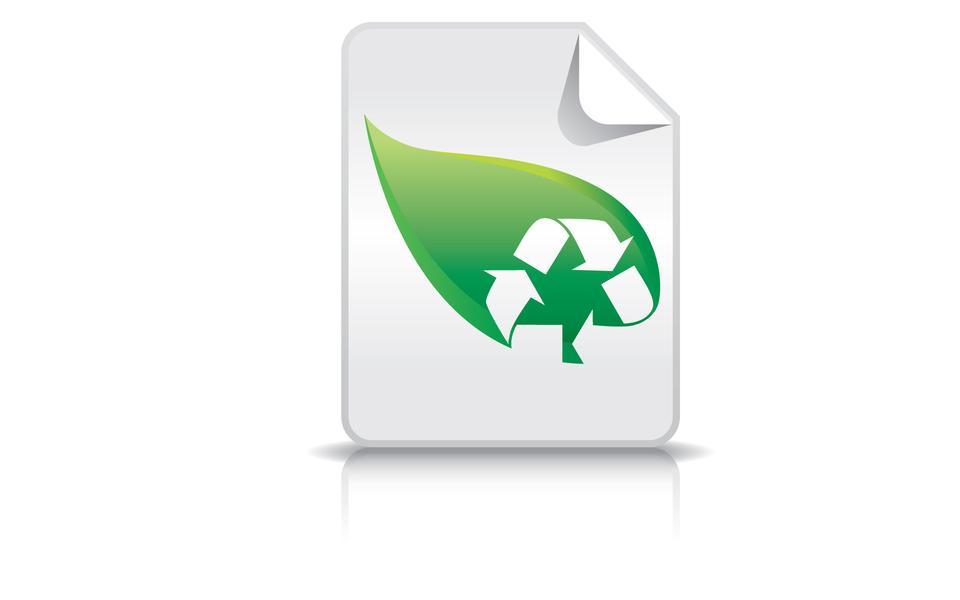 Переработка символ для переработки макулатуры