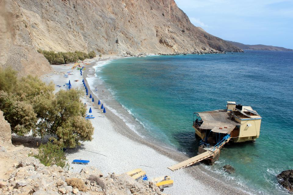 Beaitoful seascape on Crete, Greece