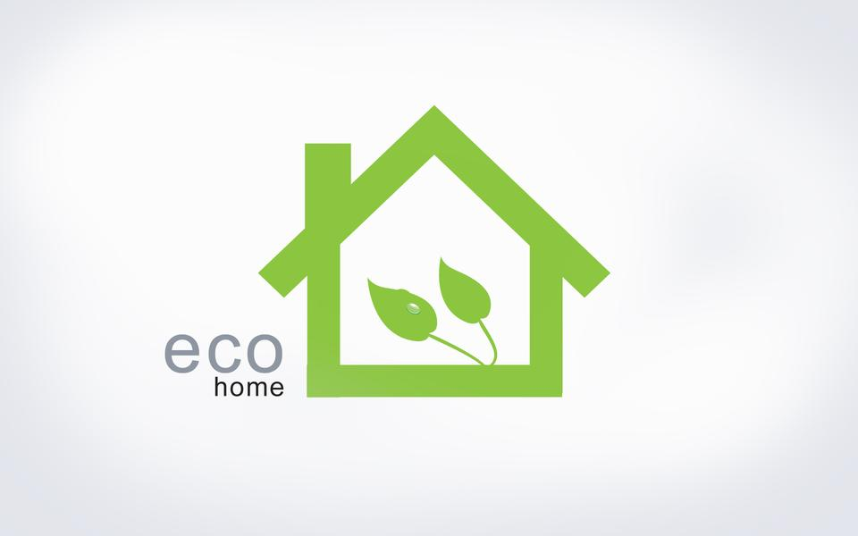 Ecology house concept background