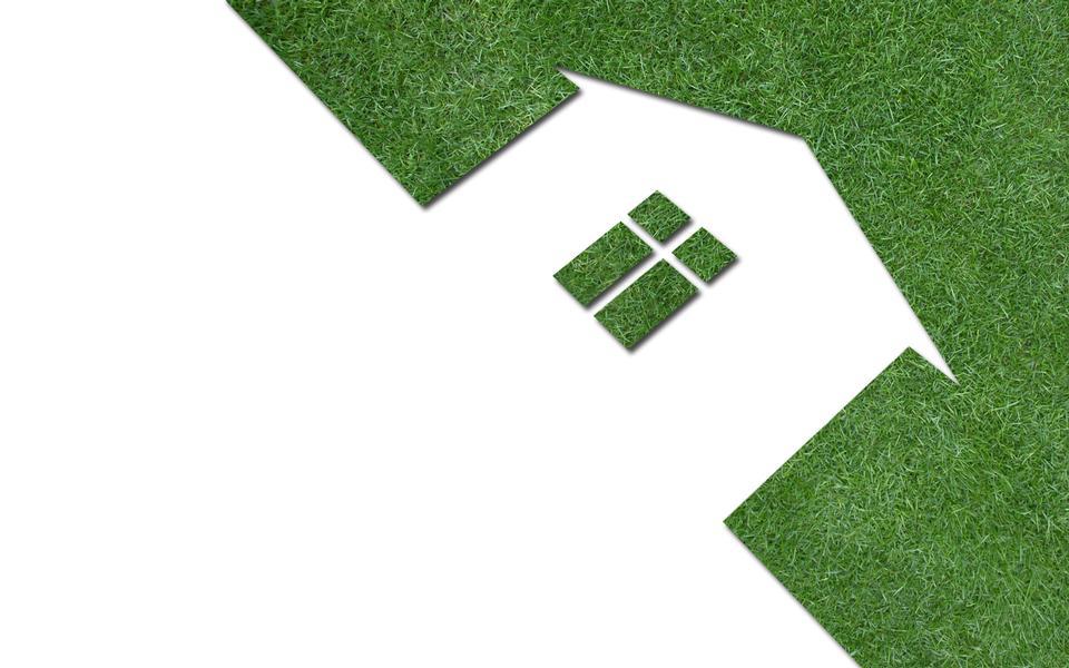 草坪的房子的形式