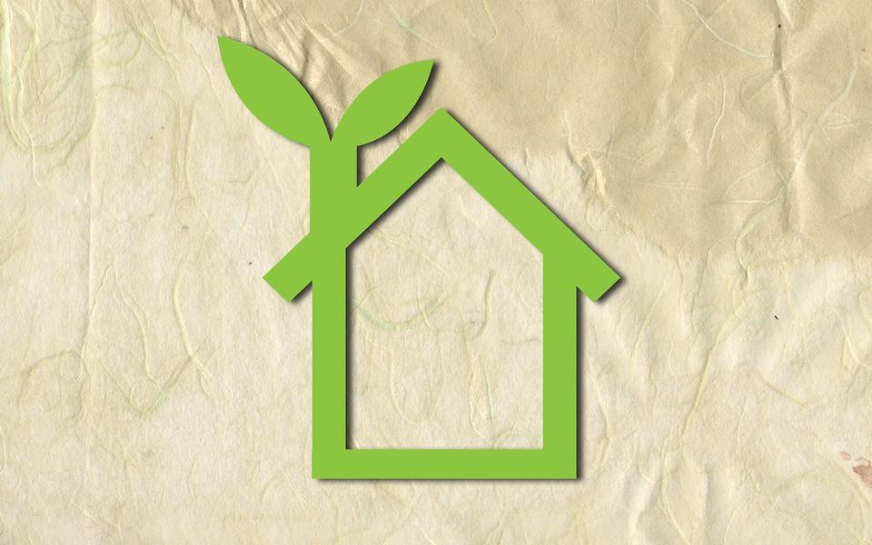 La texture du papier de la maison éco logo