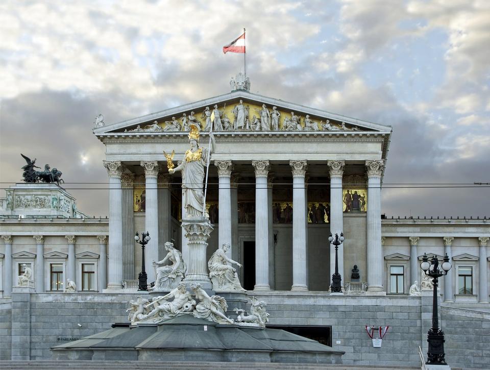 Viena - Austria edificio del Parlamento
