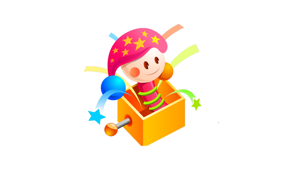 Illustration of isolated a box toy