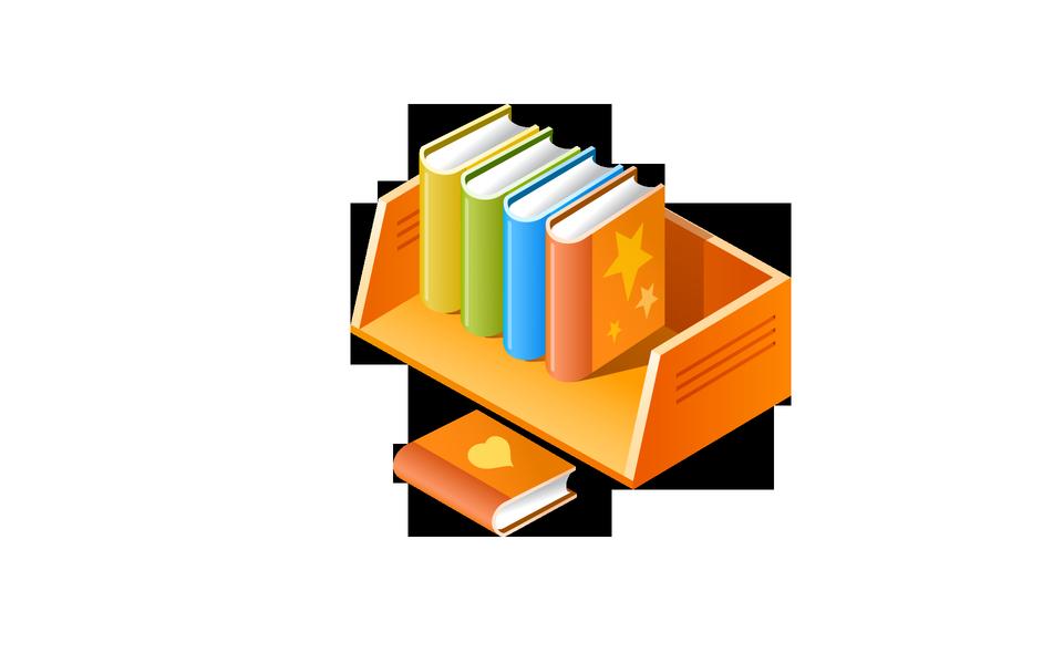 Étagère et des livres multicolores