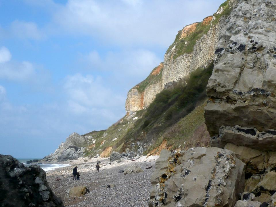 埃特尔塔在诺曼底法国著名的悬崖