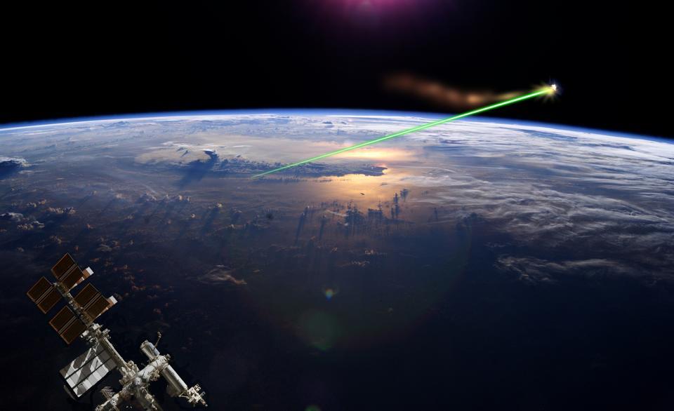 Künstlerische Interpretation des Laser Besen
