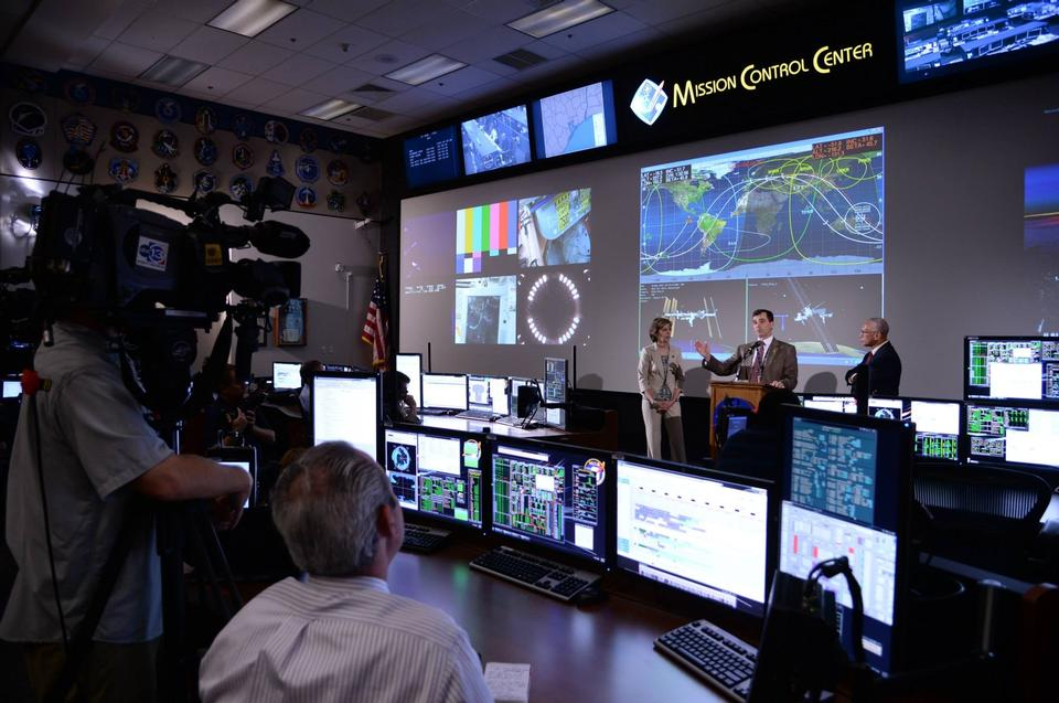 Voo Control Room para Orion da NASA