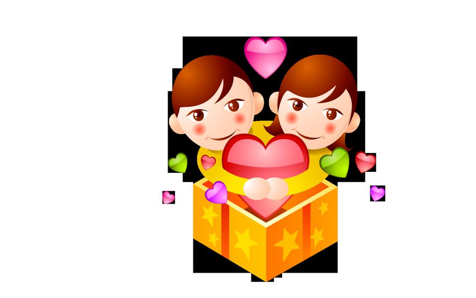 恋に男と女のイラスト