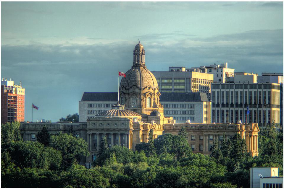 Palazzo del Parlamento canadese a Victoria British Columbia