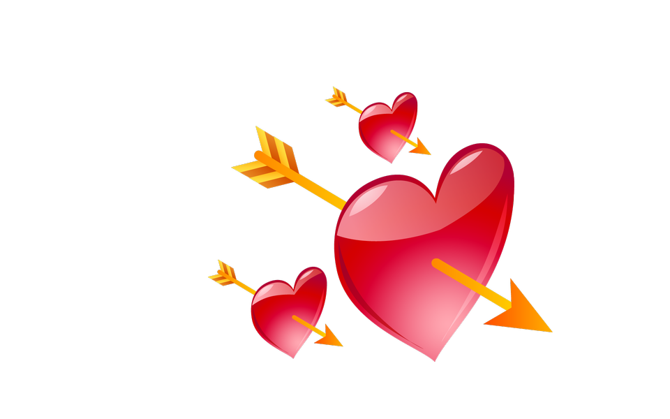 Hearts and Arrows Valentines Day Elements