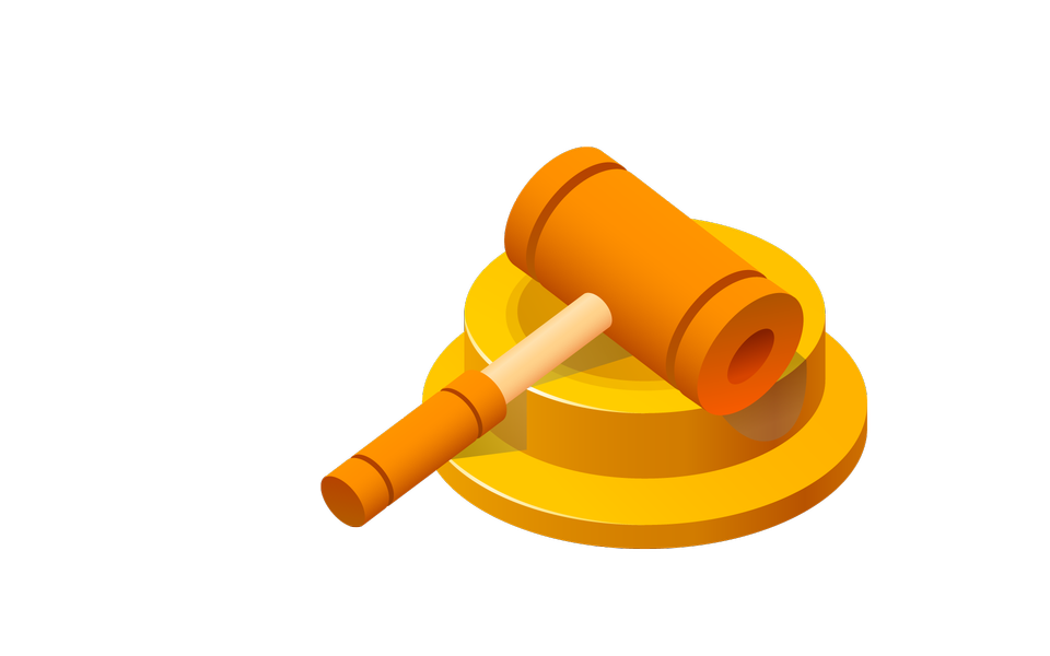 Wooden gavel. LAW concept