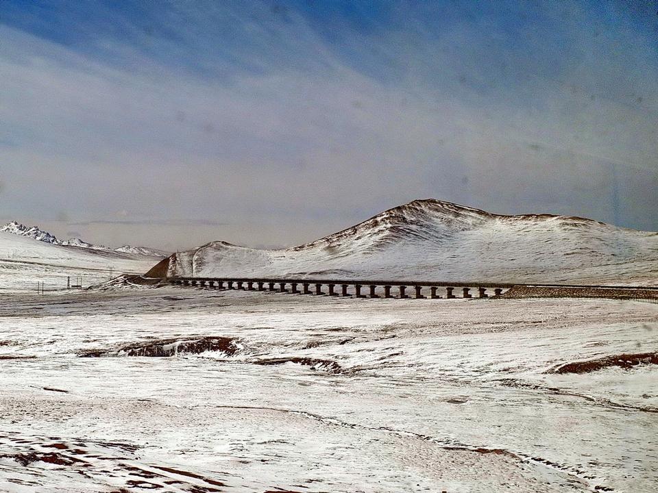Train railway in Lhasa, Tibet