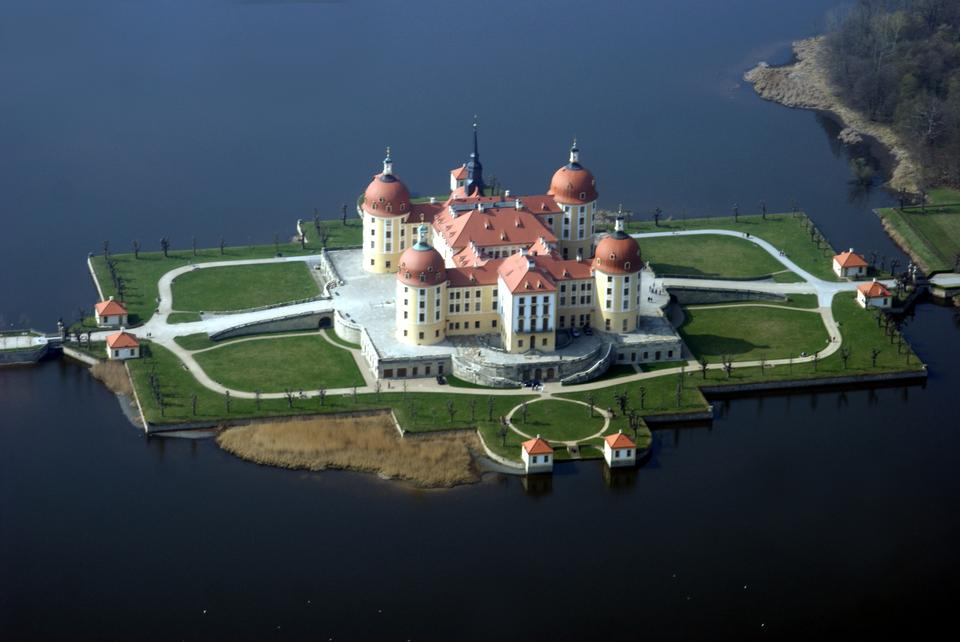 Aerial View Moritzburg Castle Saxony