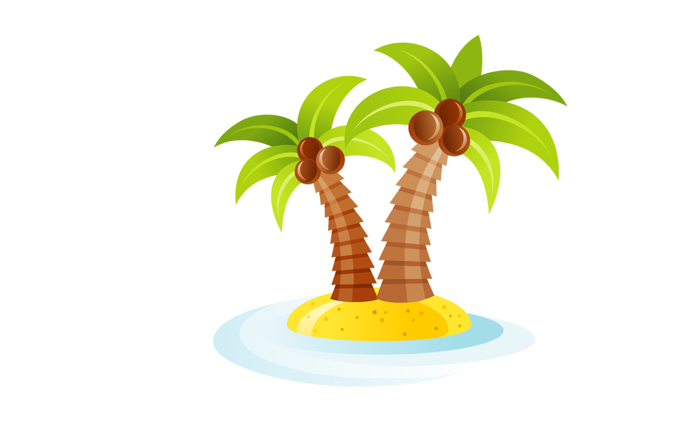 Island with palm