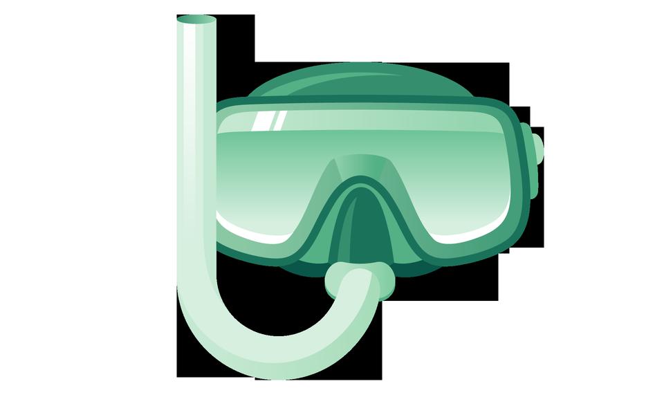 Maschera e tubo per le immersioni