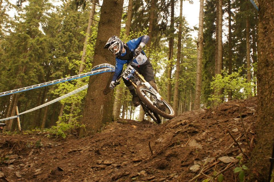 racer sul concorso della mountain bike