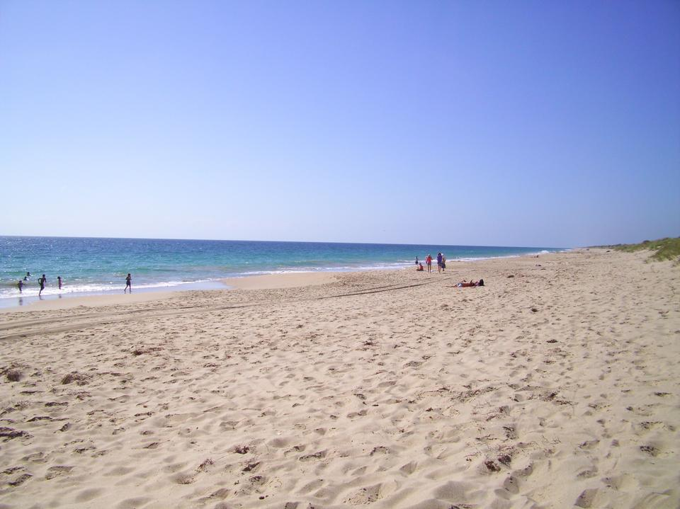 Preston Beach en la localidad costera de Weymouth, Dorset