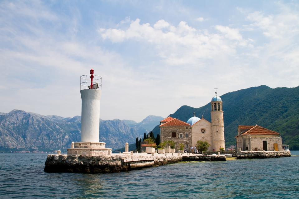 Church of the Virgin of Rock located in the Kotor bay, Montenegro