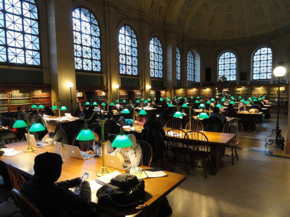 Boston Public Library, McKim Building, Boston, Massachusetts