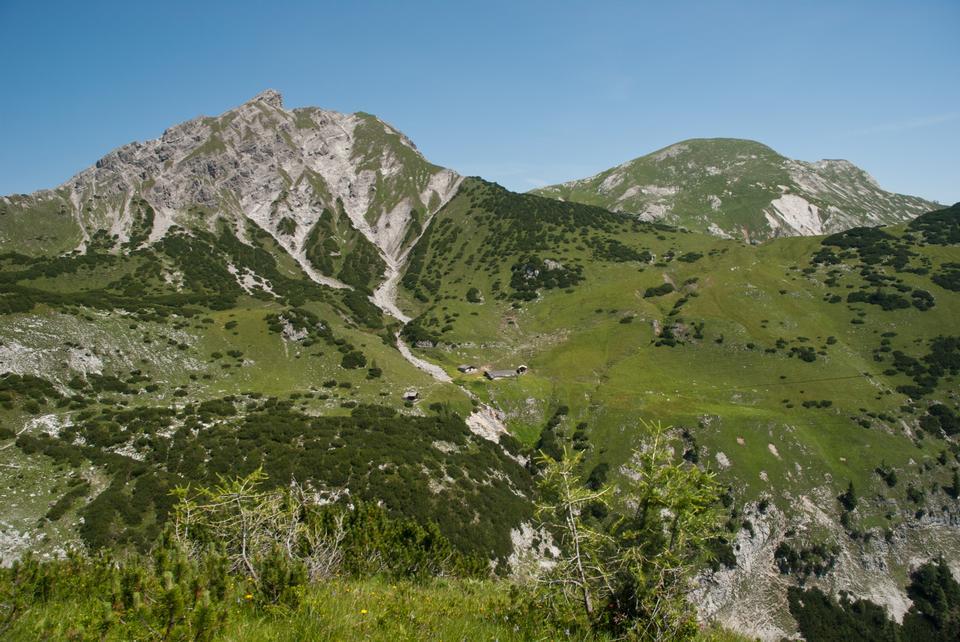 Rizuelhals、オーストリアの山の風景