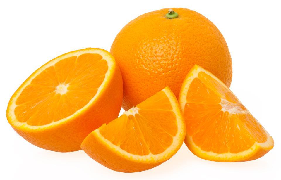 白で隔離オレンジ色の三枚