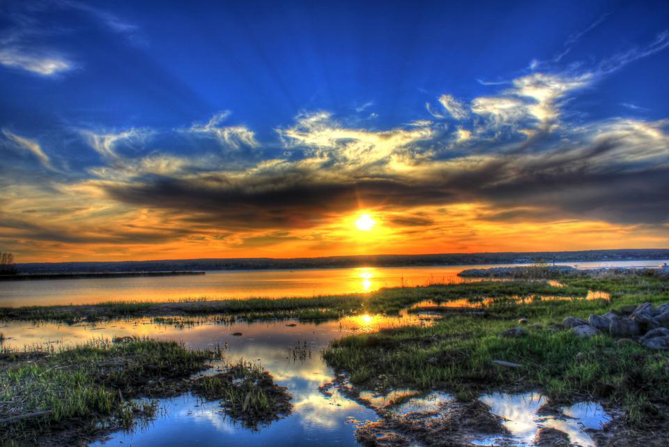 Splendid Sunset over Superior