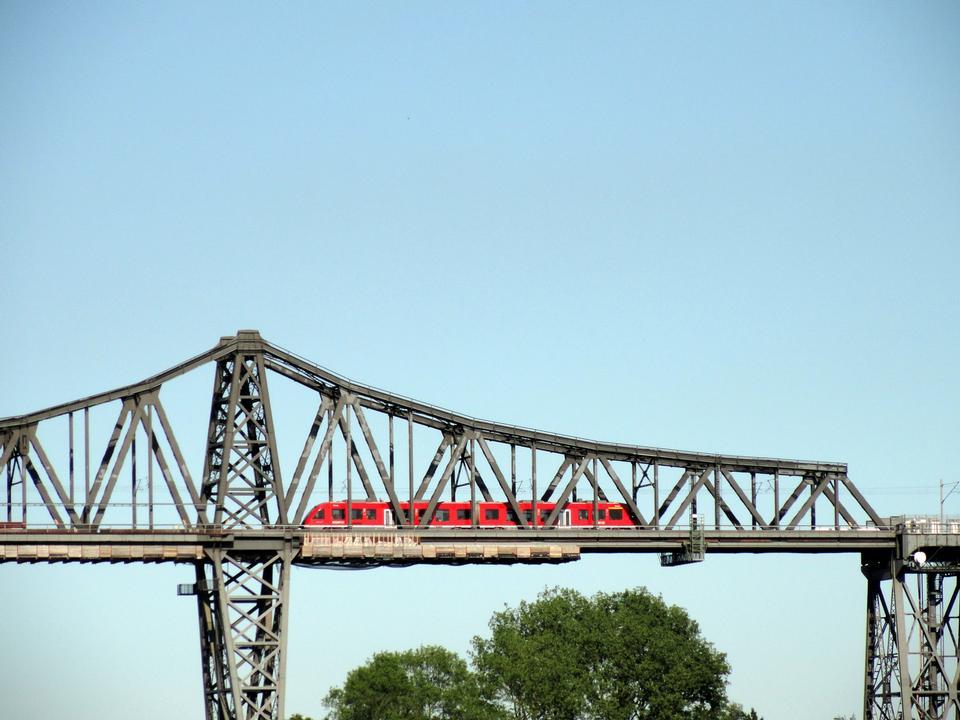 Famoso ponte ferroviario sul Canale di Kiel in Rendsburg, Germania