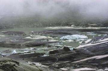 Descarga gratis la imagen de alta resolución - fusión glaciar Ródano y el lago, Suiza