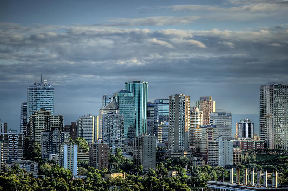 Downtown orizzonte, Edmonton
