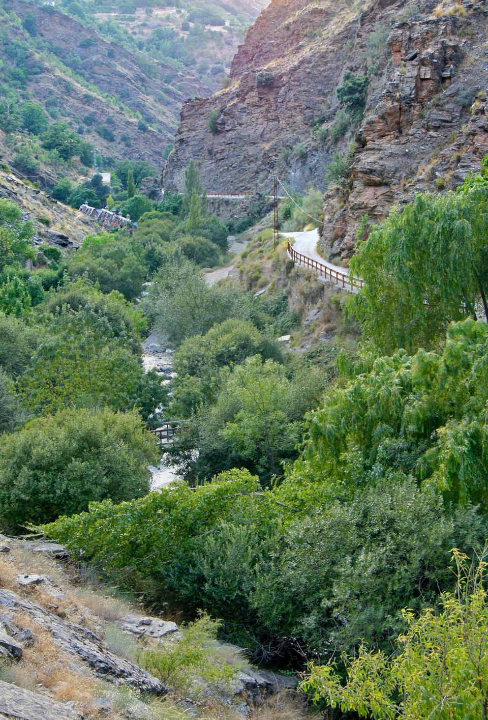 The Rio Genil valley, in Sierra Nevada