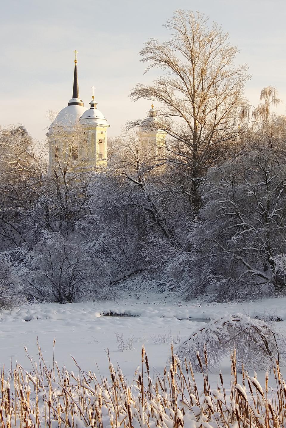 Eglise dans la neige