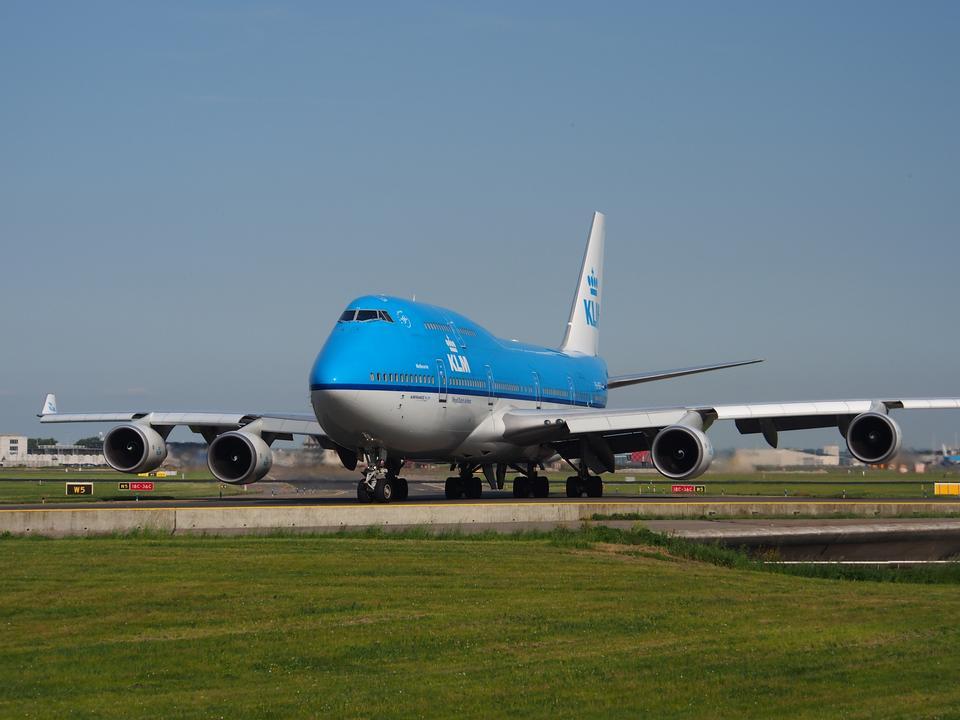 Dutch Airlines Boeing 747-406, atterrissant à Schiphol