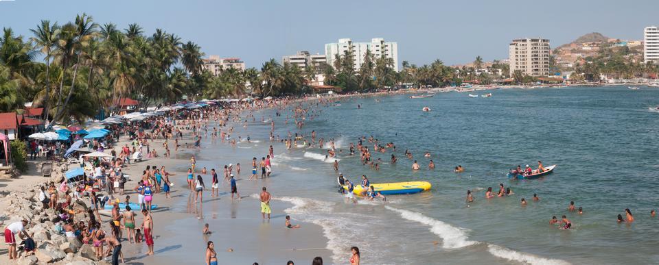 Pampatar beach in venezuela