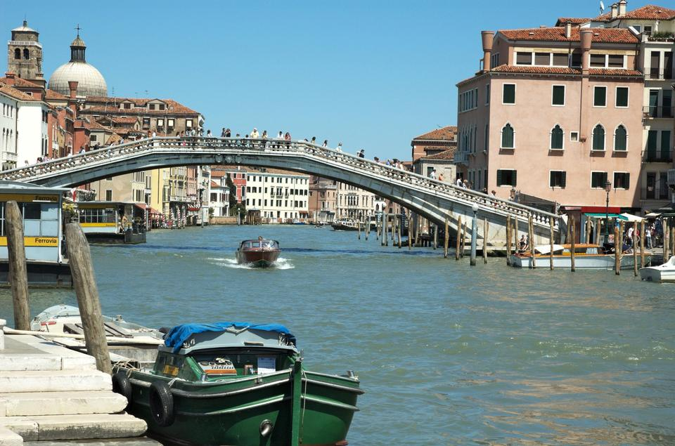 Italy, Venice the grand canal with Scalzi bridge