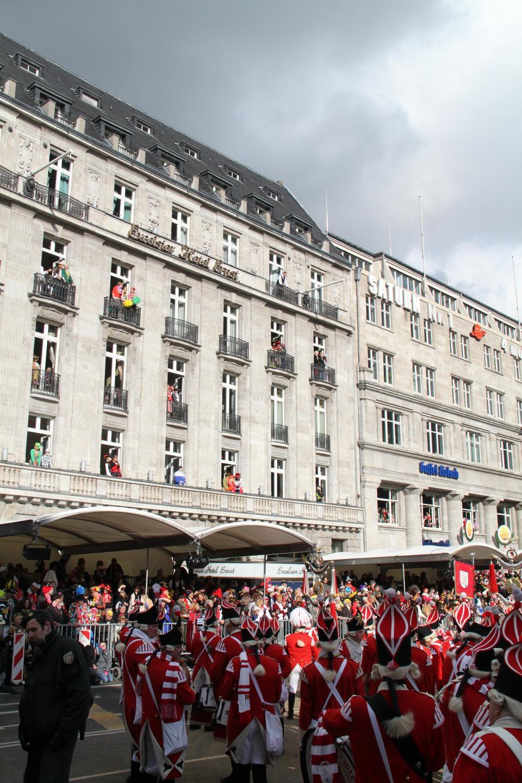 玫瑰星期一游行在德国美因茨