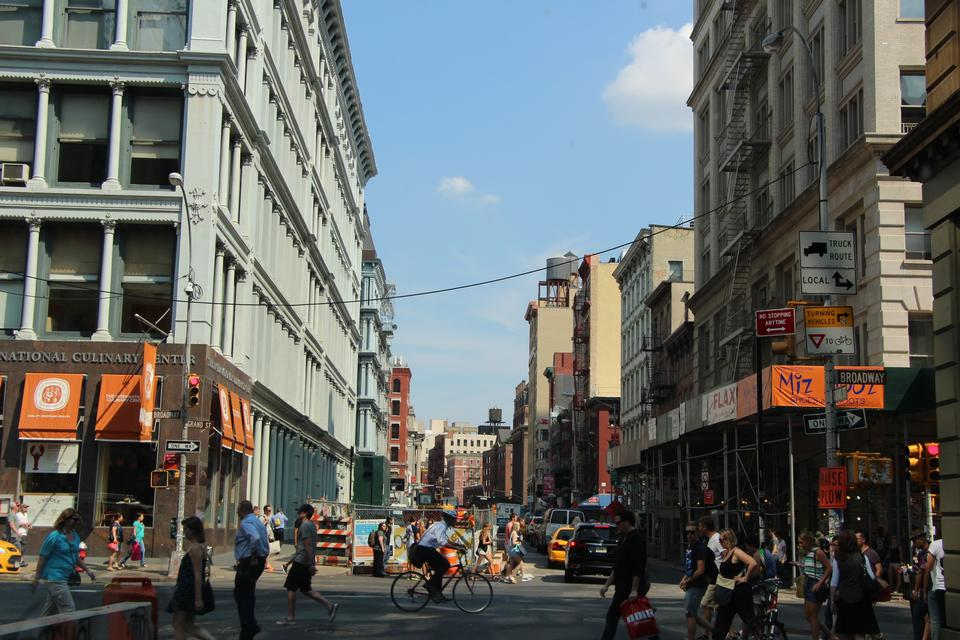 The street of Soho near Chinatown